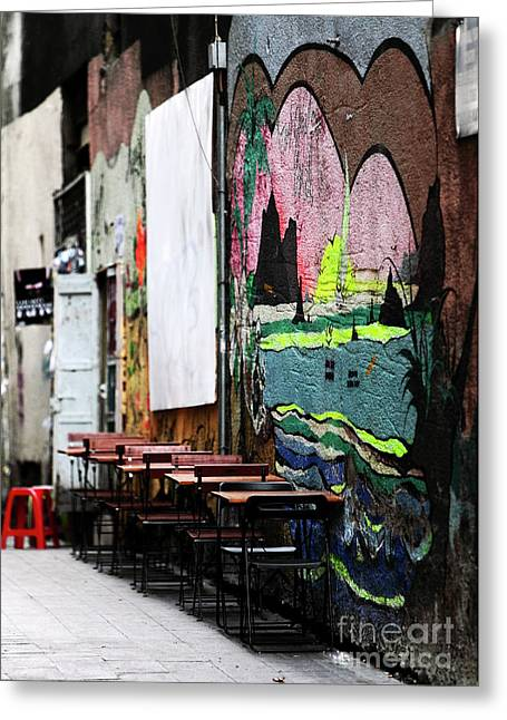 Istanbul Greeting Cards - Istanbul Street Art Greeting Card by John Rizzuto