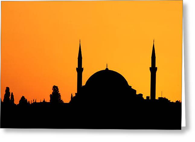 Beach Greeting Cards - Istanbul Sunset Greeting Card by Stephen Stookey