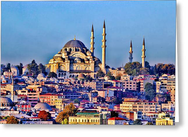 Hdr Effects Greeting Cards - Istanbul Greeting Card by Tom Prendergast