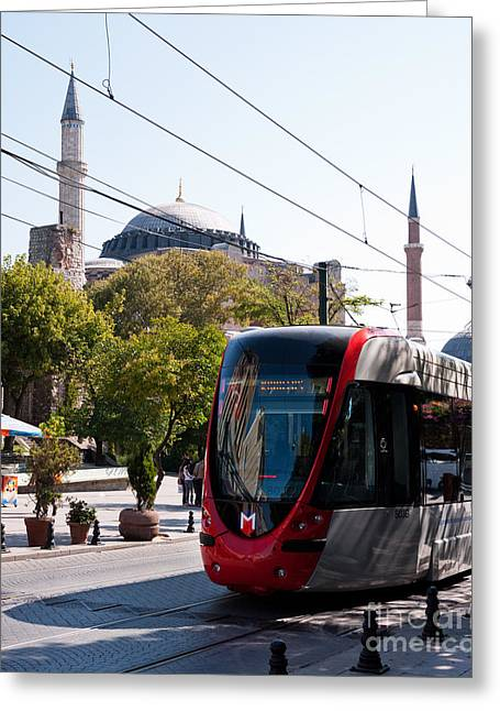 Divan Greeting Cards - Istanbul Tram 03 Greeting Card by Rick Piper Photography