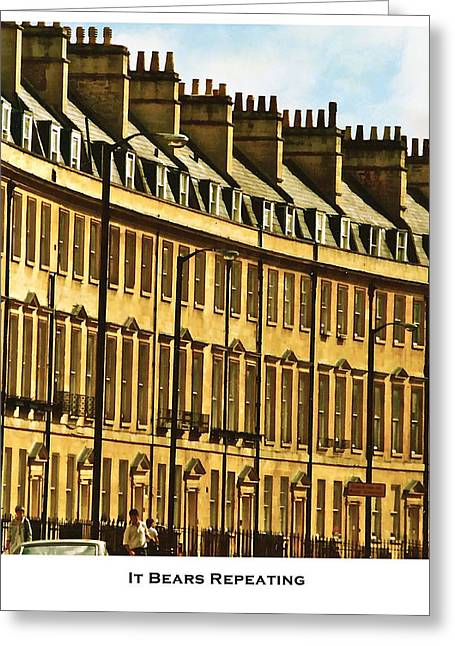 Historic Home Greeting Cards - It Bears Repeating Greeting Card by Lorenzo Laiken