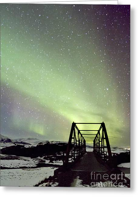Aurora Greeting Cards - It Came Upon A Midnight Clear Greeting Card by Evelina Kremsdorf