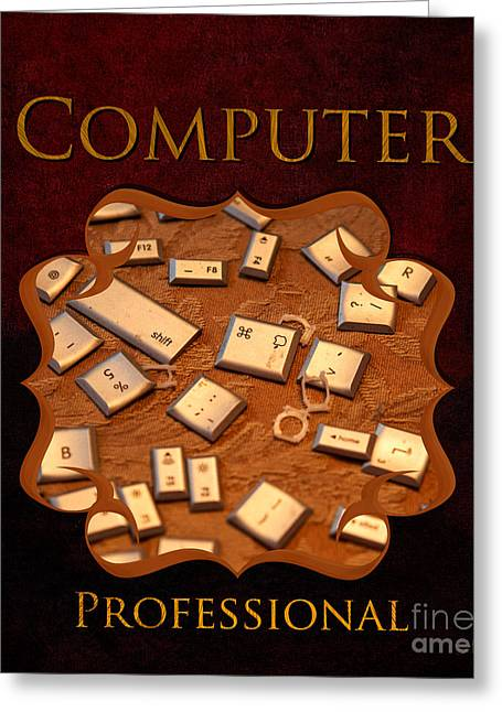 It Computer Professional  Greeting Card by Iris Richardson