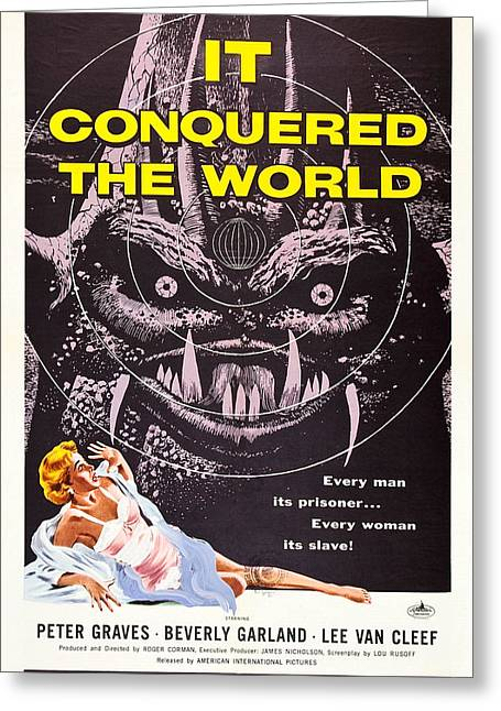 Home Theater Greeting Cards - IT Conquered The World Greeting Card by MMG Archives