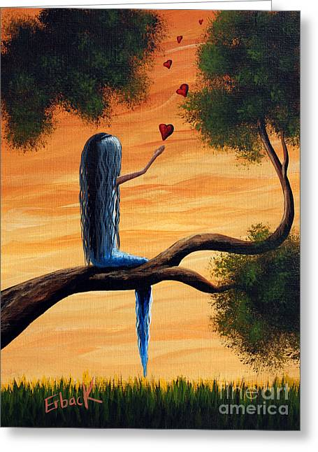 Daughter Gift Paintings Greeting Cards - It Feels So Good To Say I Love You by Shawna Erback Greeting Card by Shawna Erback