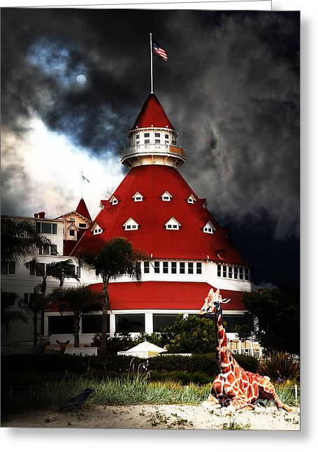 Coronado Island Greeting Cards - It Happened One Night At The Old Del Coronado Hotel 5D24270 Greeting Card by Wingsdomain Art and Photography