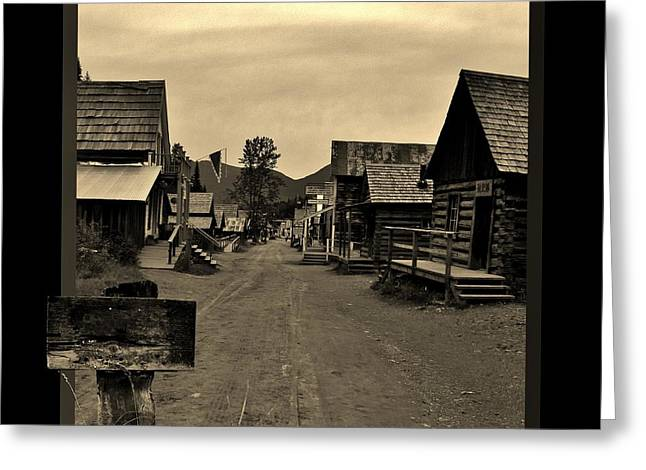Barkerville Greeting Cards - It is a Sign Greeting Card by Barbara St Jean