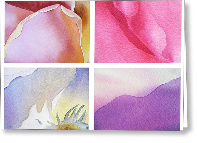 Purple Roses Greeting Cards - It Is All In Petals Greeting Card by Irina Sztukowski