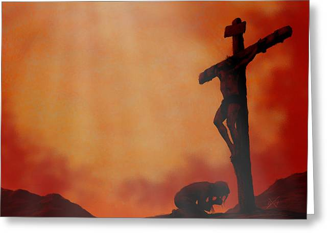 Jesus Wept Greeting Cards - It Is Done Greeting Card by Michael Wheeler