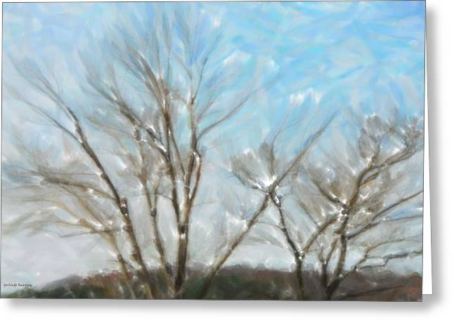 Peaceful Scenery Greeting Cards - It is freezing Greeting Card by Gerlinde Keating - Keating Associates Inc