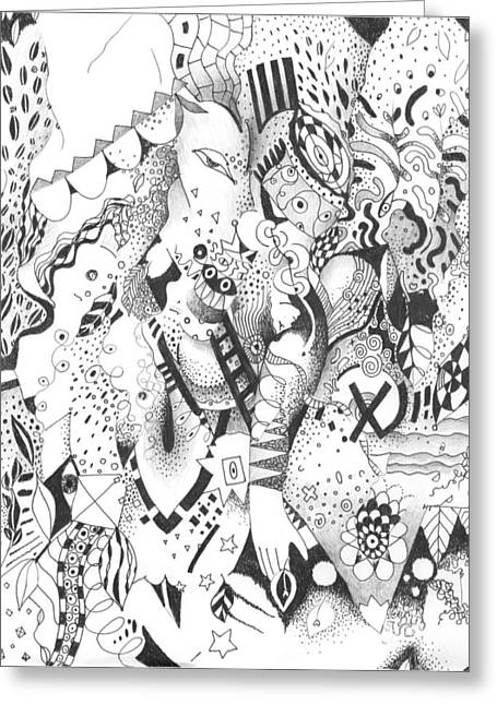 Organic Drawings Greeting Cards - It Is Never Enough Greeting Card by Helena Tiainen