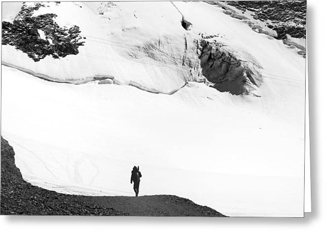 Snow Capped Greeting Cards - It is time .. Greeting Card by A Rey