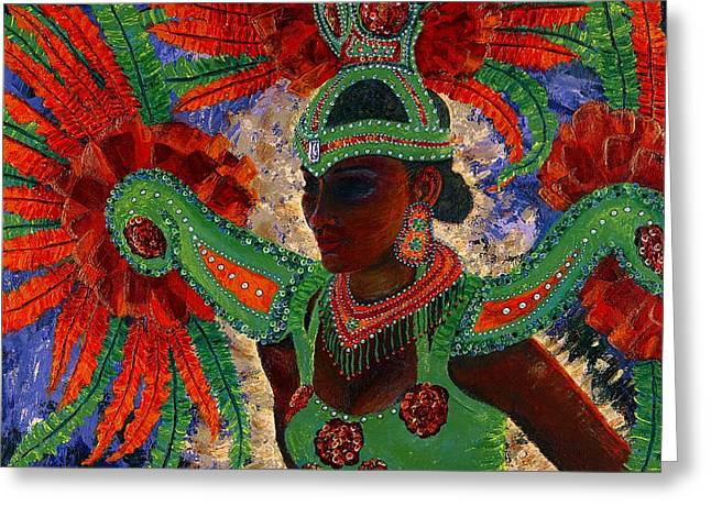 Just Because Greeting Cards - It Looks Like Mardi Gras Time Greeting Card by Margaret Bobb