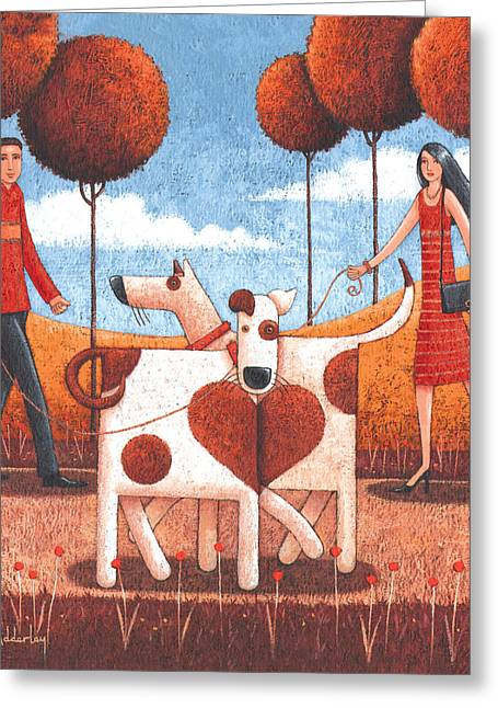 Animals Love Greeting Cards - It Must Be Love Greeting Card by Peter Adderley