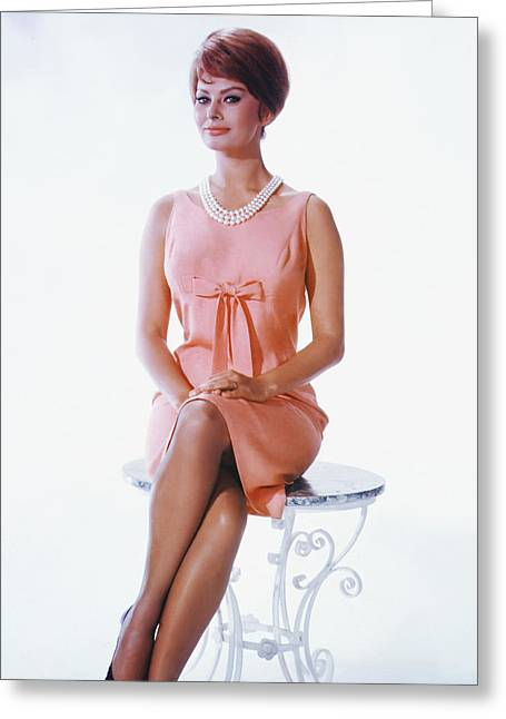 Sophia Loren Greeting Cards - It Started in Naples  Greeting Card by Silver Screen