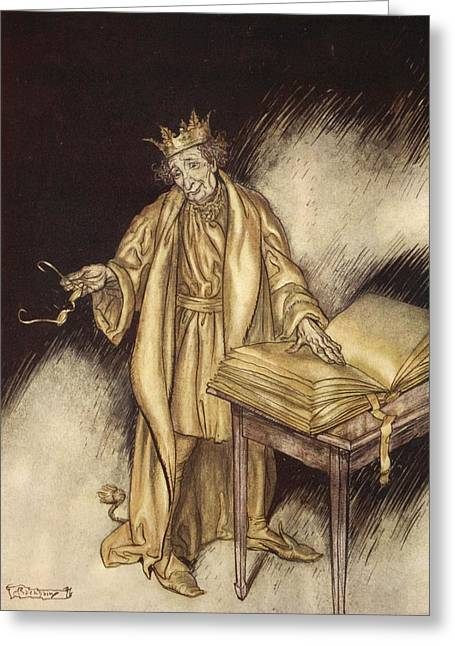 Greek Myths Greeting Cards - It Struck Midas As Rather Inconvenient Greeting Card by Arthur Rackham