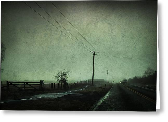 Artistic Photography Greeting Cards - It was a dark and stormy night Greeting Card by Constance Fein Harding
