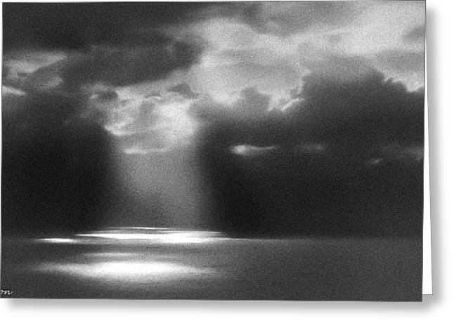 Storm Prints Digital Art Greeting Cards - It Was Just a Dream Greeting Card by  Bob and Nadine Johnston
