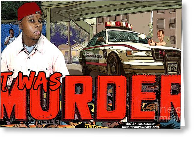 Naacp Greeting Cards - It Was Murder Michael Brown Tribute Greeting Card by Isis Kenney