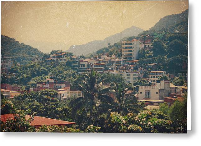 Puerto Vallarta Greeting Cards - It Was Years Ago Greeting Card by Laurie Search