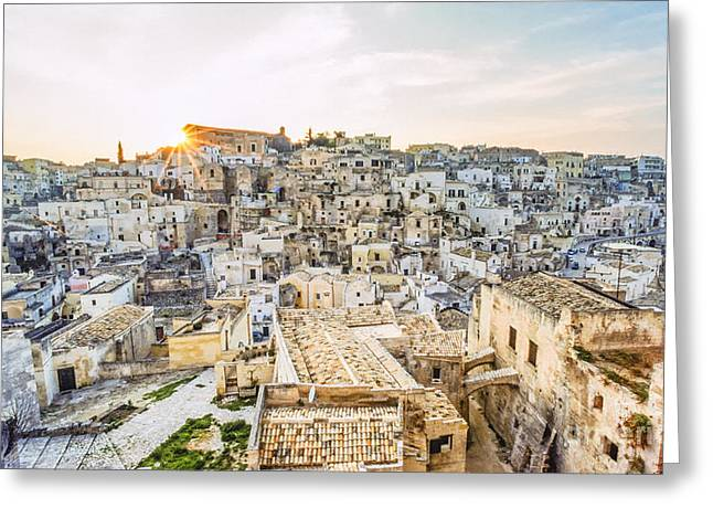 Traditionell Greeting Cards - IT255429 Italy Matera European Cultural Capital 2019 Greeting Card by Karl Thomas