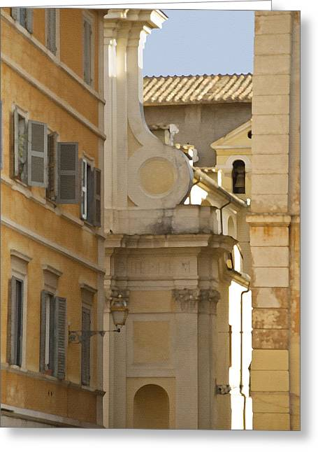 Tourist Resort Greeting Cards - Italian Architecture Greeting Card by Juli Scalzi