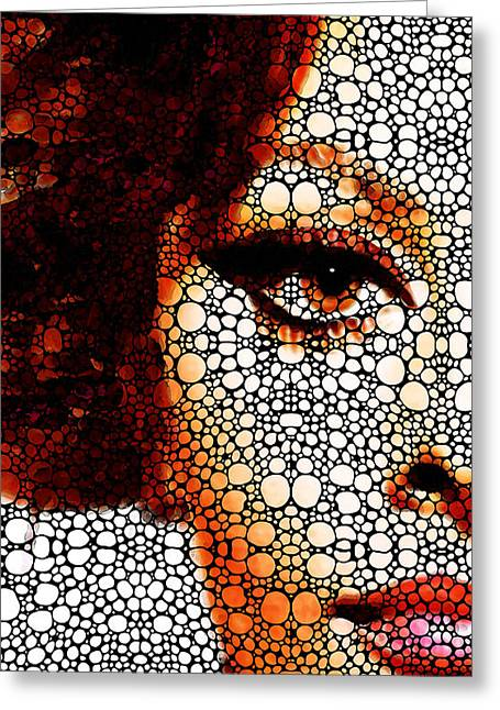 Prints For Sale Art Greeting Cards - Italian Beauty - Portrait Stone Rockd Art By Sharon Cummings Greeting Card by Sharon Cummings