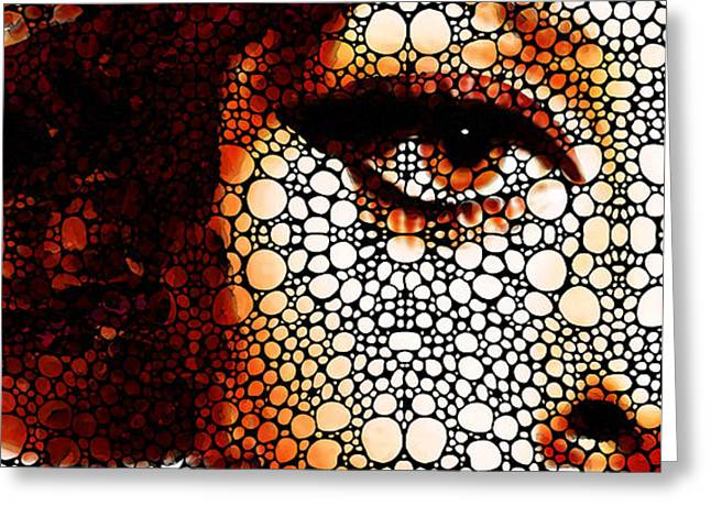 Italian Beauty - Portrait Stone Rock'd Art By Sharon Cummings Greeting Card by Sharon Cummings