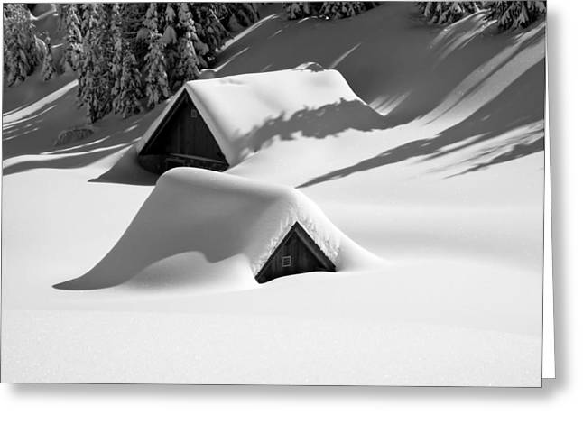 Freakish Greeting Cards - Italian Blizzard Greeting Card by Mountain Dreams