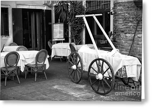 Italian Restaurants Greeting Cards - Italian Cart Greeting Card by John Rizzuto