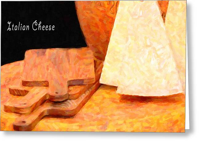 Parmesan Greeting Cards - Italian cheeses and cutting boards Greeting Card by Toppart Sweden