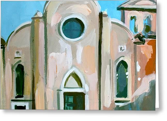 Italian Church Greeting Card by Filip Mihail