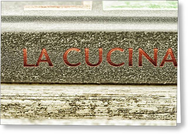 Italian Cooking Greeting Card by Patricia Hofmeester