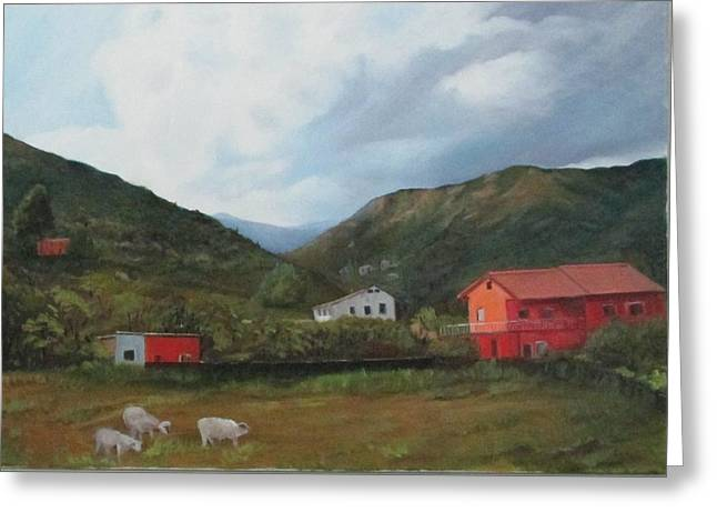 Italian Country Side Greeting Card by Betty Pimm