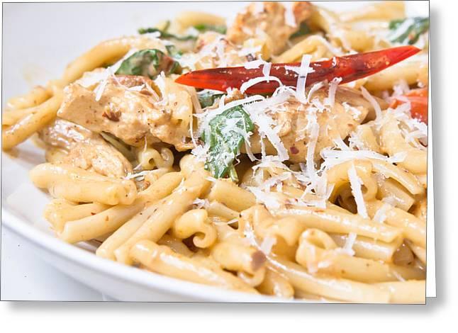 Basil Greeting Cards - Italian dish Greeting Card by Tom Gowanlock