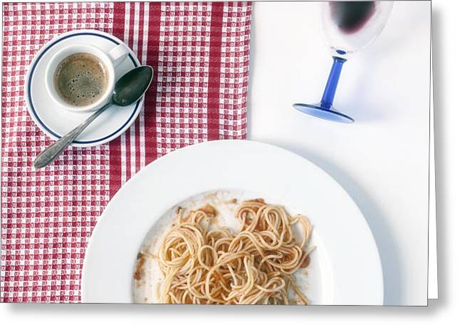 italian food Greeting Card by Joana Kruse