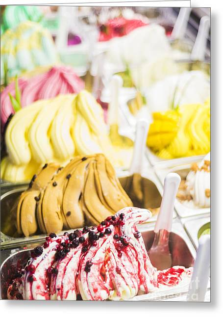 Italian Med Greeting Cards - Italian Gelatto Ice Cream Greeting Card by Jacek Malipan