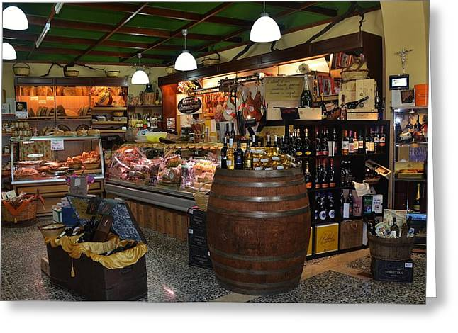 Alimentari Greeting Cards - Italian Grocery Greeting Card by Dany  Lison