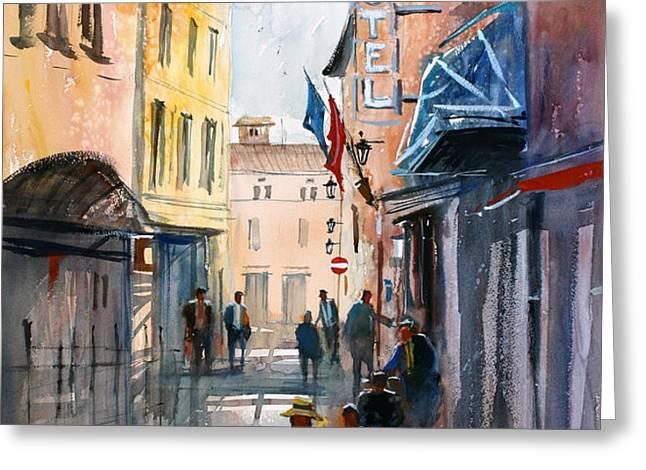 Italian Impressions 3 Greeting Card by Ryan Radke