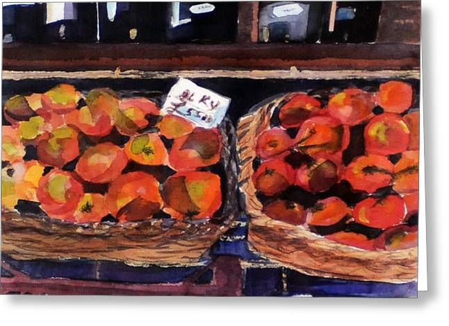 Italian Market Greeting Card by Susie Jernigan