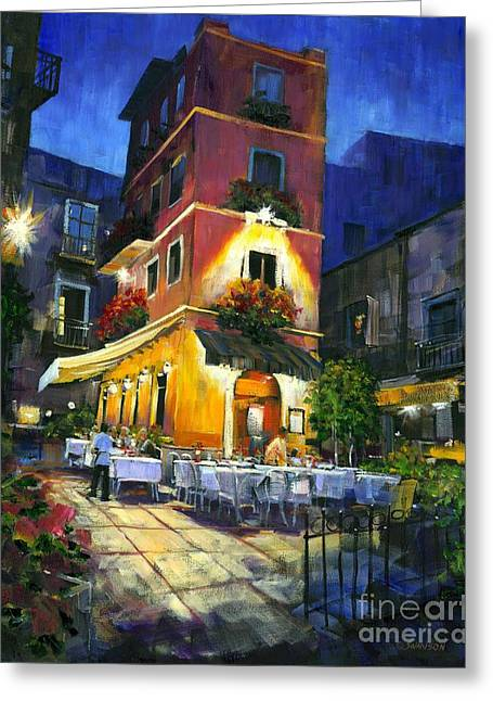 Mediterranean Landscape Greeting Cards - Italian Nights Greeting Card by Michael Swanson