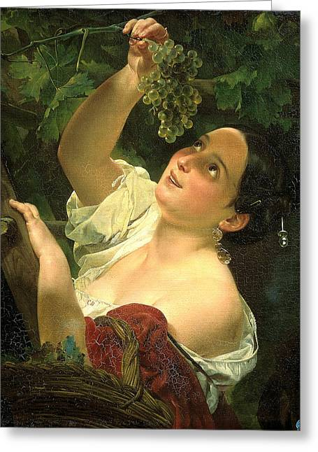 Midday Paintings Greeting Cards - Italian Noon. Italian Midday Greeting Card by Karl Bryullov