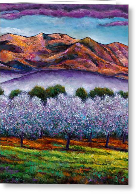 Representational Greeting Cards - Italian Orchard Greeting Card by Johnathan Harris
