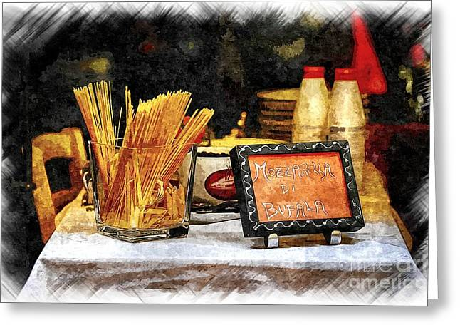 Spaghetti Greeting Cards - Italian Restaurant in Rome Greeting Card by Stefano Senise