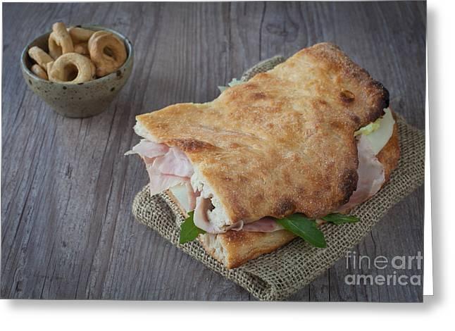 Italian sandwich Greeting Card by Sabino Parente