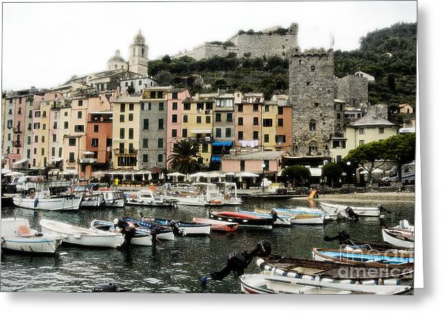 Village By The Sea Greeting Cards - Italian Seaside Village Greeting Card by Jim  Calarese