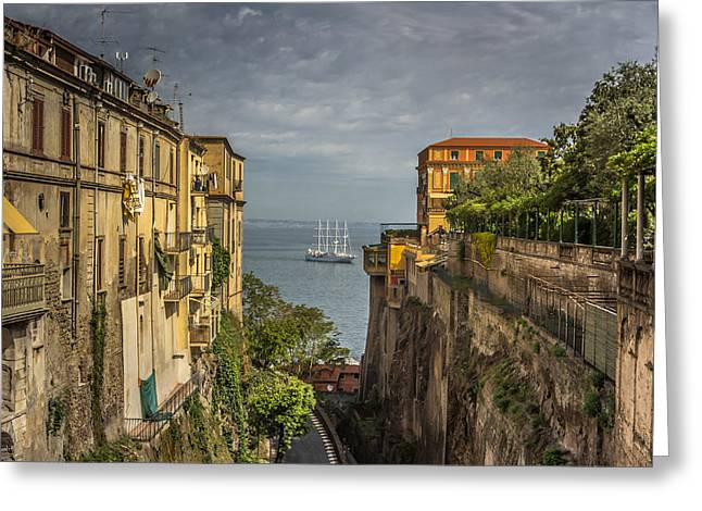 Sea Route Greeting Cards - Italian shipping route Greeting Card by Chris Fletcher