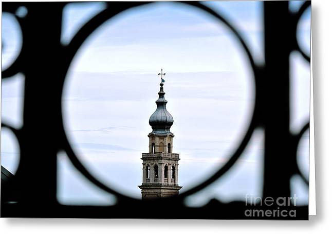 Italian Steeple Greeting Card by Sarah Christian