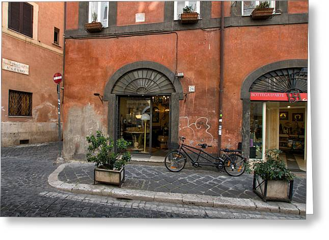 Trastevere Greeting Cards - Italian Style Greeting Card by Ayhan Altun