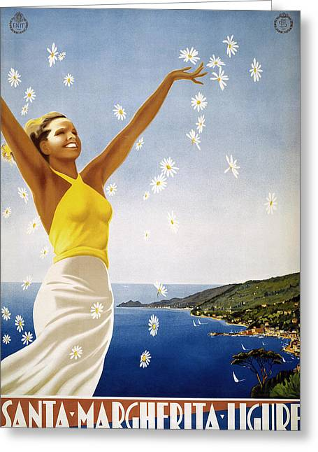 Margherita Greeting Cards - Italian Travel Poster, 1951 Greeting Card by Granger